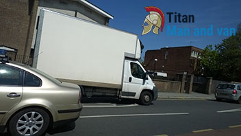 Titan man and van